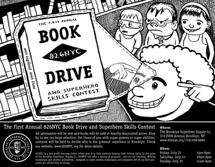 826NYC Book Drive